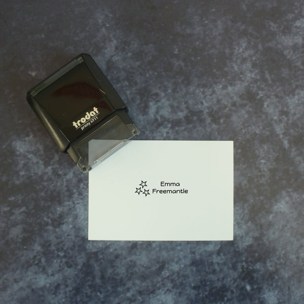 Personalised Self Inking Children's Name School Uniform Stamp