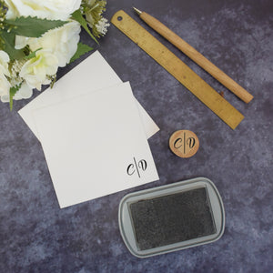 Personalised Simple Calligraphy Monogram Wedding Stamp