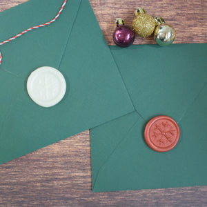 Self Adhesive Wax Seal Stickers - Christmas Snowflakes