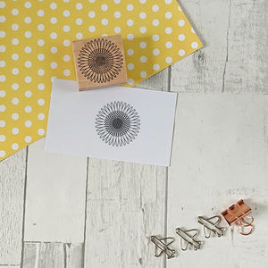 Z - Sunflower Rubber Stamp