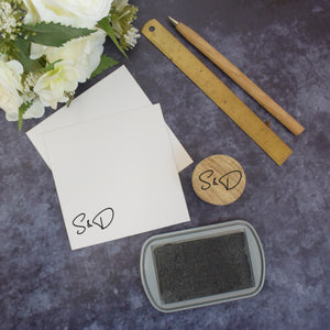 Personalised Tulip Monogram Wedding Stamp