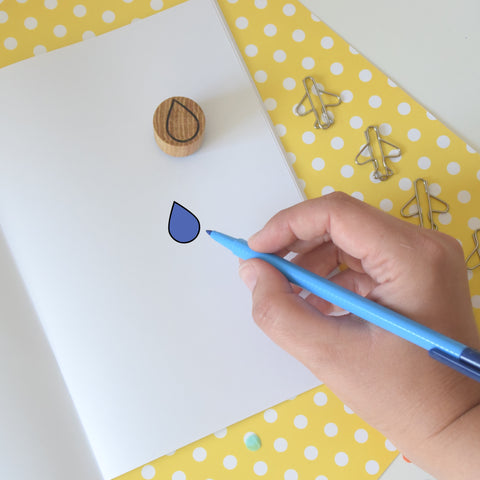 Droplet Mini Rubber Planner Stamp