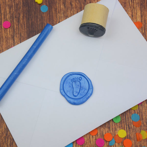 Baby Footprint Wax Seal Stamp