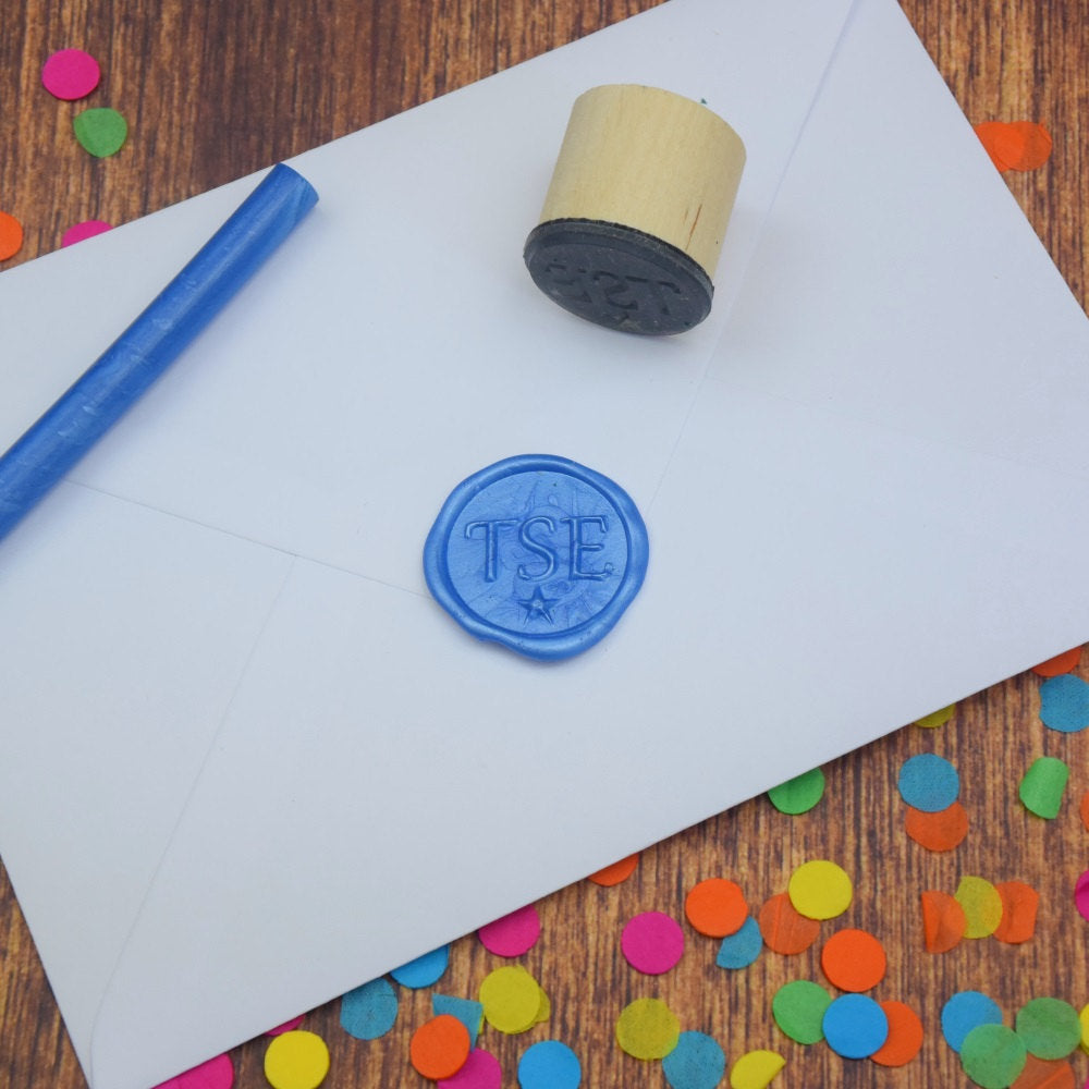 Personalised Monogram Wax Seal Stamp - Serif
