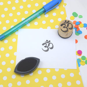 Om Mini Rubber Stamp
