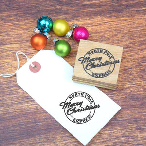 Merry Christmas Postmark Style Stamp