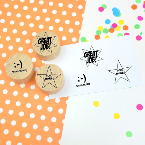 Set of 3 Teacher Reward Stamps