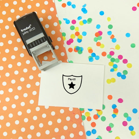 Mini Merit Self Inking Teacher Reward Stamp