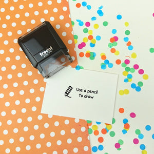 Use a Pencil to Draw Self Inking Teacher Reward Stamp