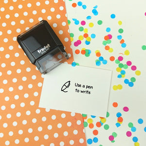 Use a Pen to Write Self Inking Teacher Reward Stamp