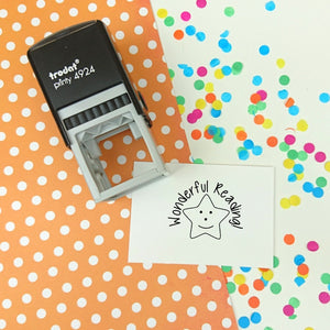 Wonderful Reading Self Inking Teacher Reward Stamp
