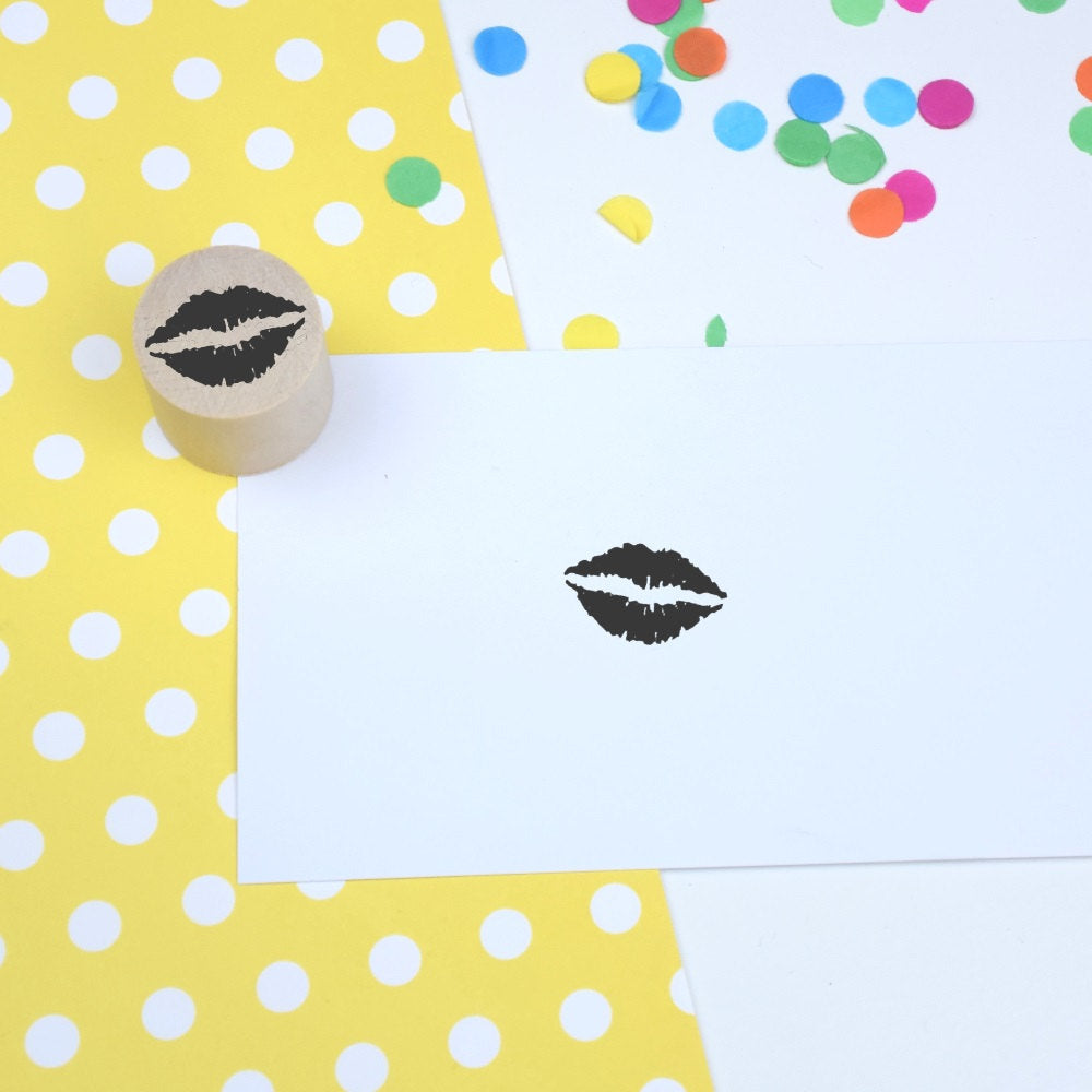 Lips Mini Rubber Stamp