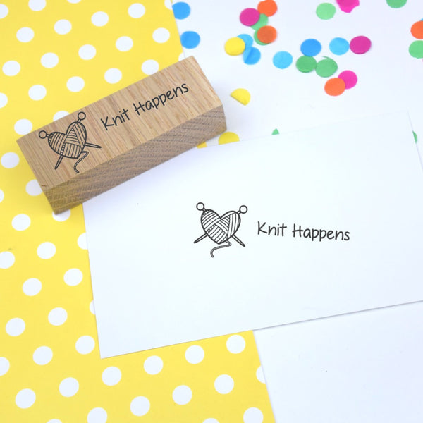 Knit Happens Craft Rubber Stamp
