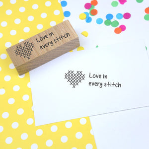 Love in Every Stitch rubber craft stamp