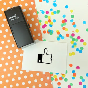 Mini Thumbs Up Self Inking Teacher Reward Stamp
