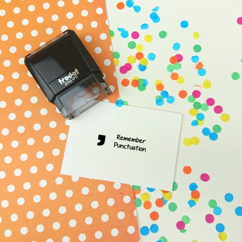 Remember Punctuation Self Inking Teacher Reward Stamp