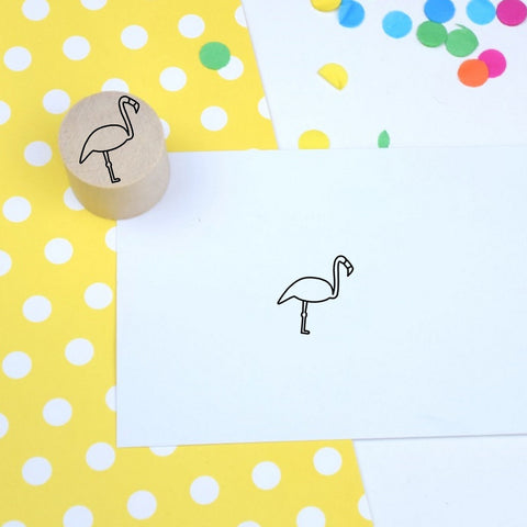 Flamingo Mini Rubber Stamp