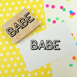 Babe Rubber Stamp