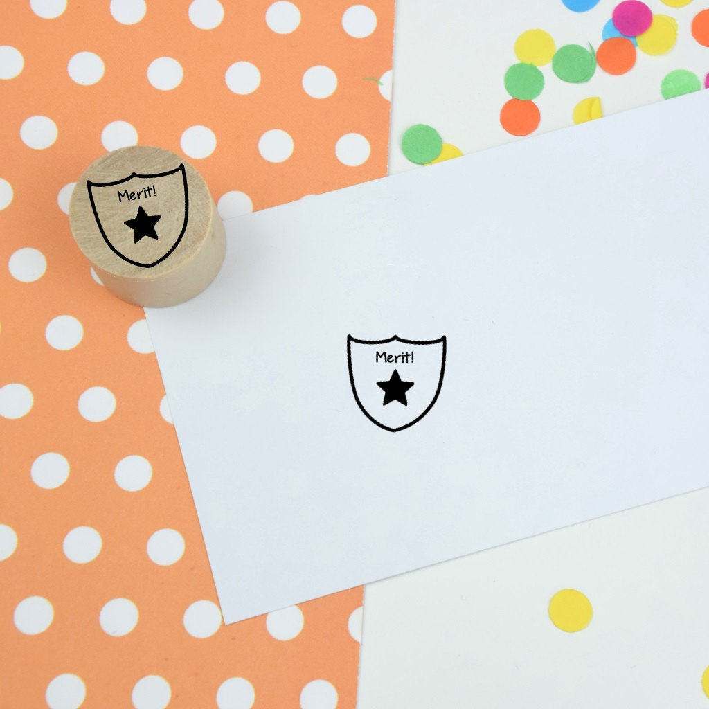 Merit Mini Teacher Reward Stamp