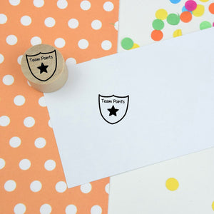 Team Points Mini Teacher Rubber Stamp