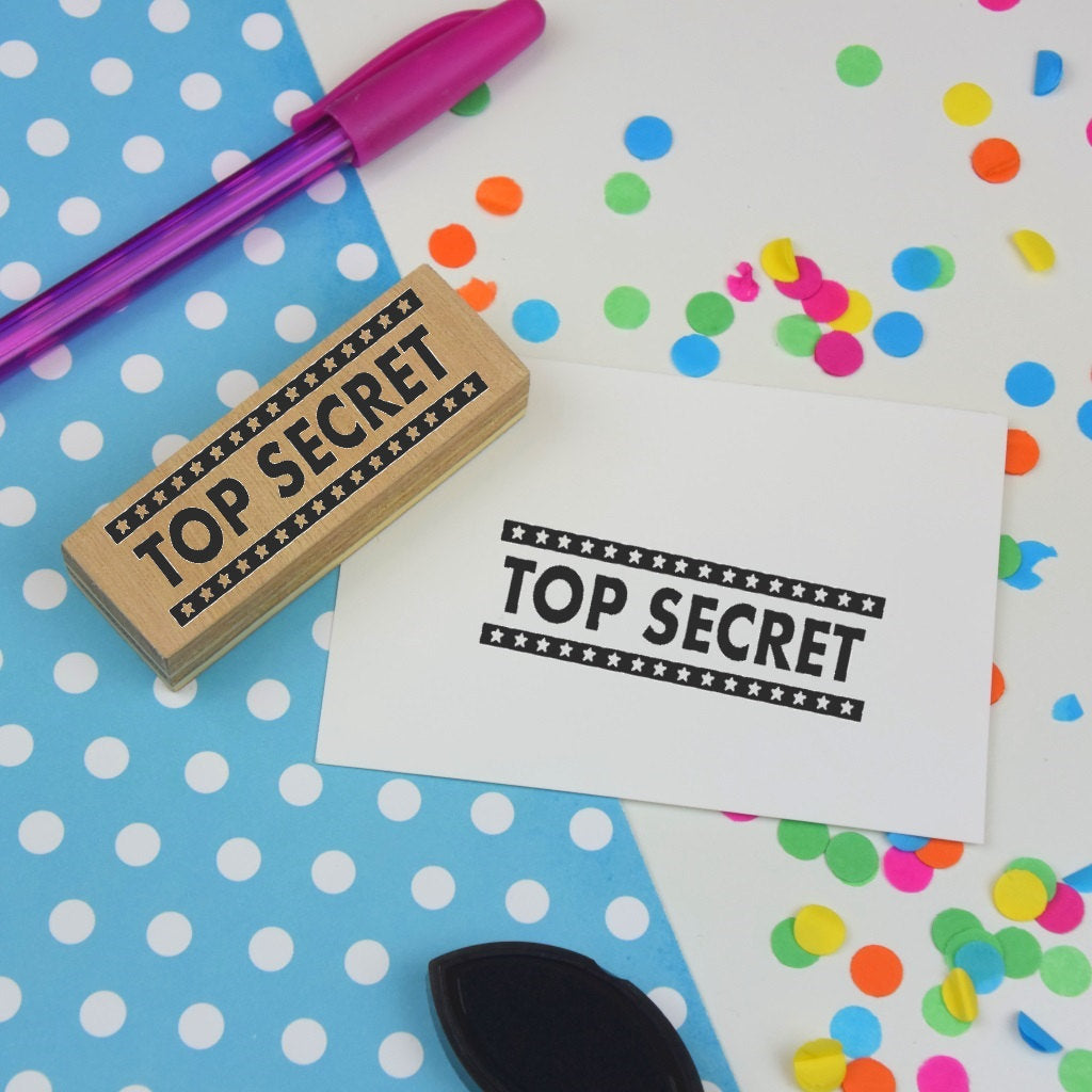 Top Secret Packaging Rubber Stamp