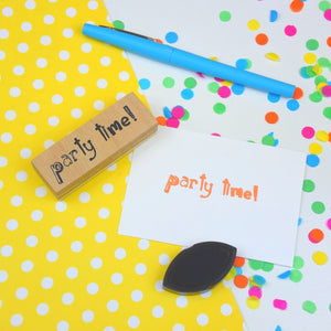Party Time rubber stamp