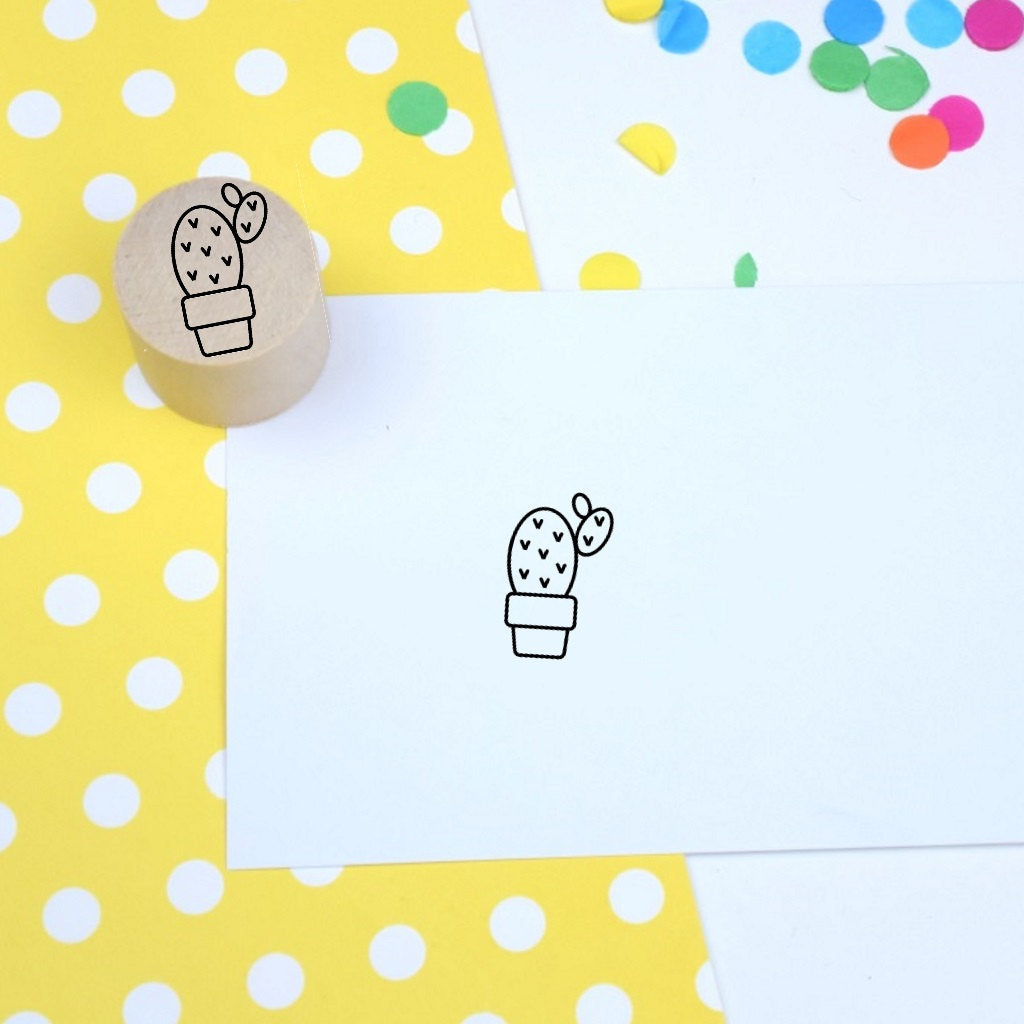 Cactus Mini Rubber Stamp