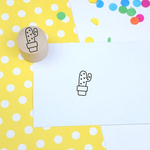 Skinny Cactus Mini Stamp