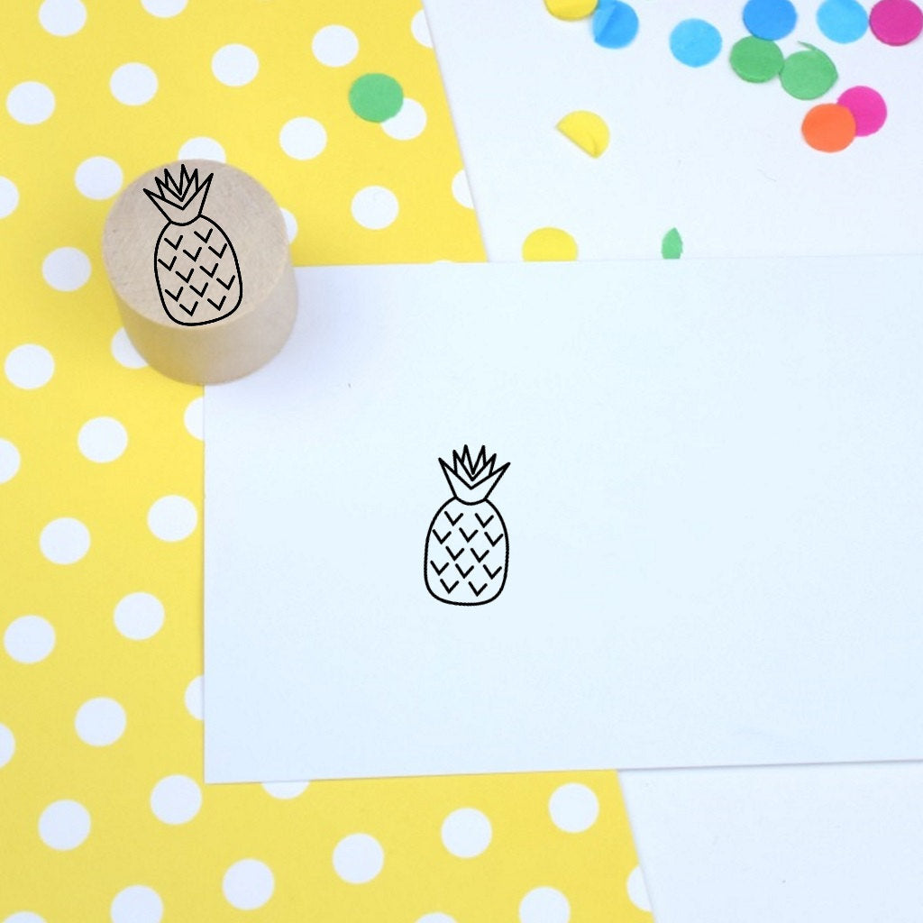 Pineapple Mini Rubber Stamp