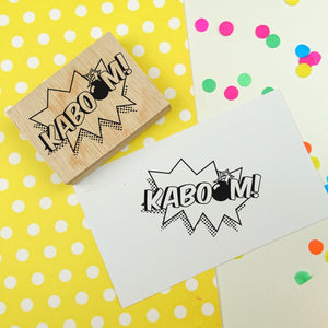 KABOOM! Comic Book Style Rubber Stamp