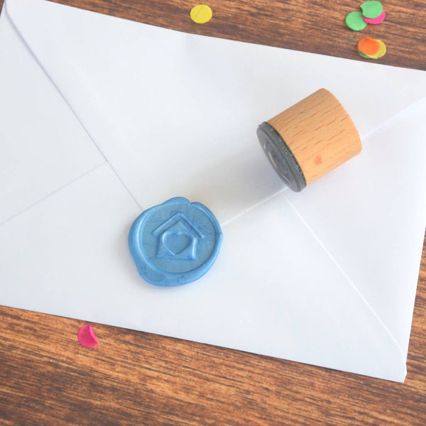 House and Heart Wax Seal Stamp