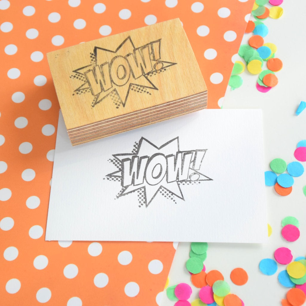 Z - Wow! Teacher Stamp - Rubber stamp - Comic book style