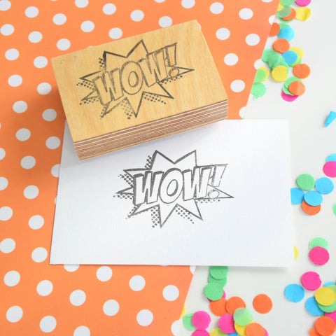Wow! Teacher Stamp - Rubber stamp - Comic book style