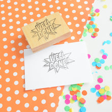 Well Done! Comic Book Style Teacher Rubber Stamp