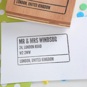 London Style Street Sign Stamp - Personalised Rubber stamp - Return address stamp - custom address stamp