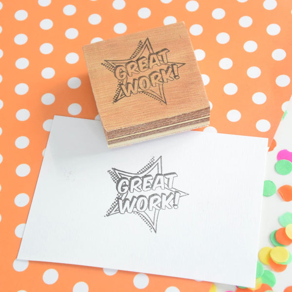 Great Work! Comic Book Style Teacher Reward Stamp