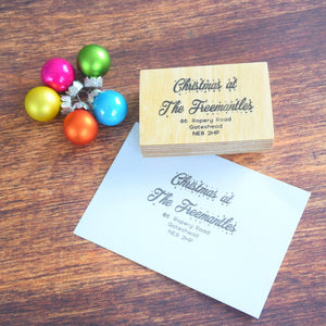 Personalised Christmas at the Address Stamp