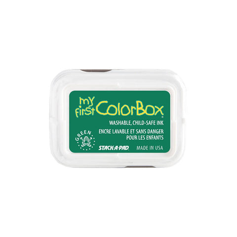 Green My First Colorbox child safe ink pad