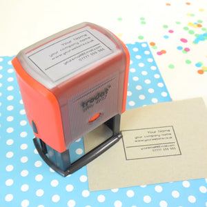 Self Inking Business Card Stamp