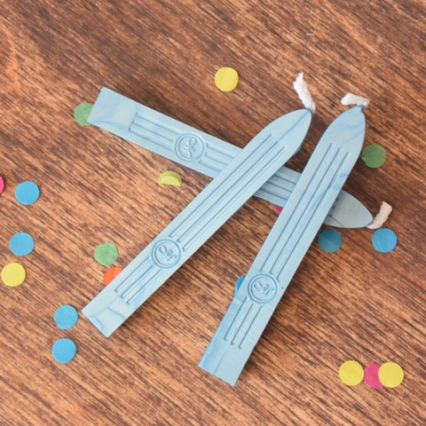 Powder Blue Traditional Sealing Wax with Wick