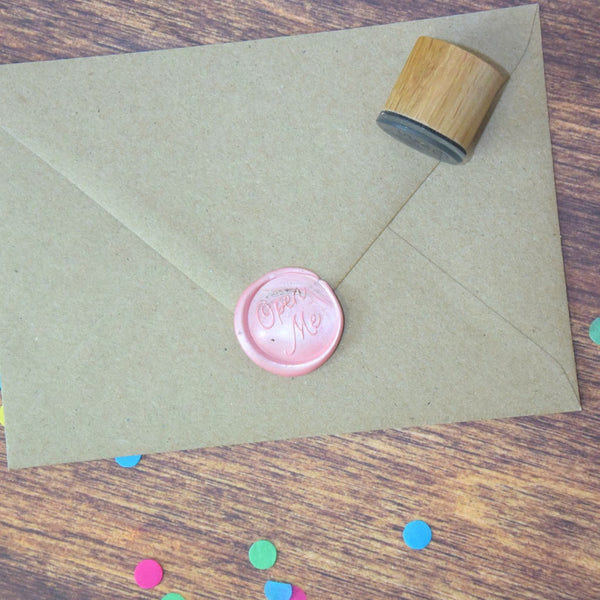 Open Me Wax Seal Stamp