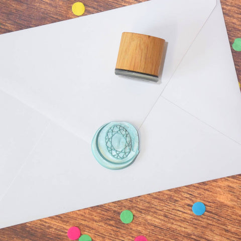 Z - Oval Gem Wax Seal Stamp