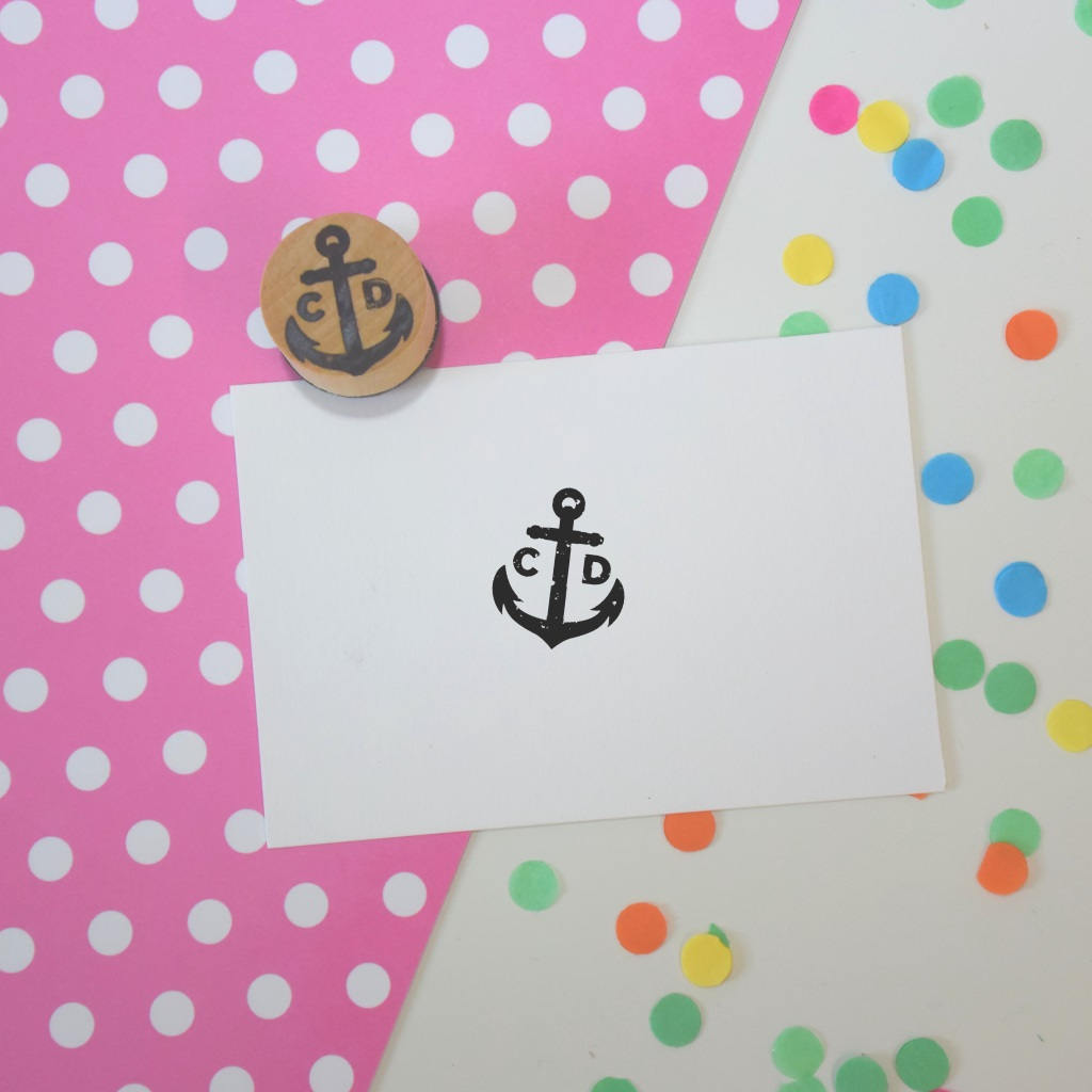 Personalised Anchor Couple Wedding Monogram Stamp