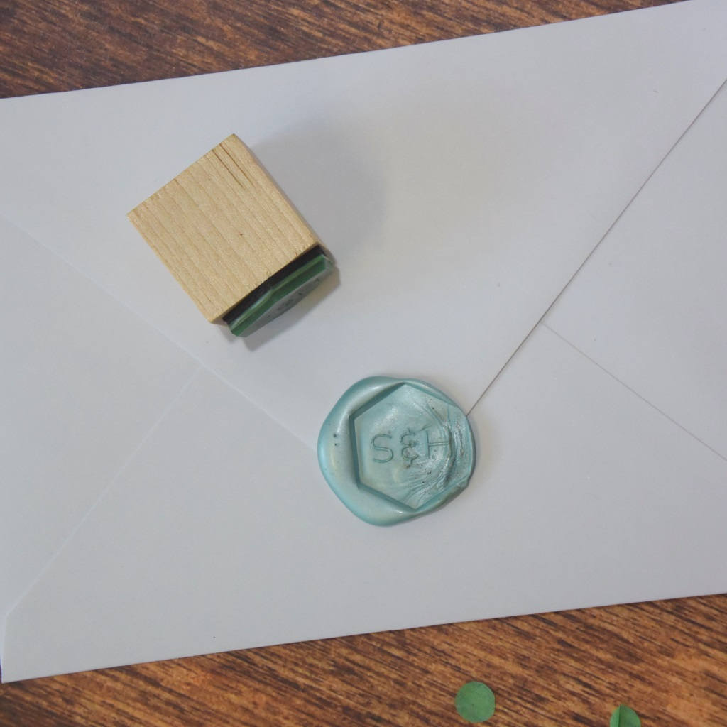Personalised Hexagonal Monogram Wax Seal Stamp - Sans Serif