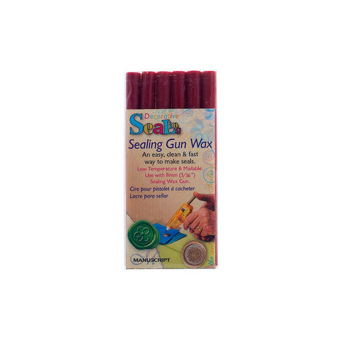 Red Sealing Wax for use with Cool Melt Wax Gun