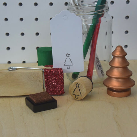 Christmas Tree Mini Rubber Stamp