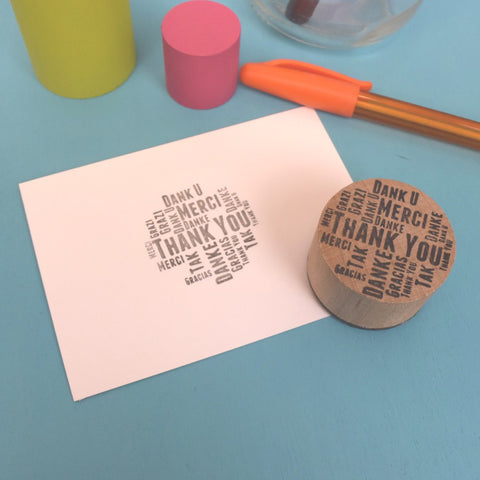 Z - Thank You Rubber stamp