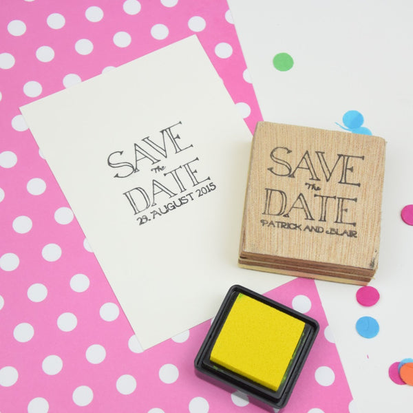 Personalised Save The Date Wedding Stamp