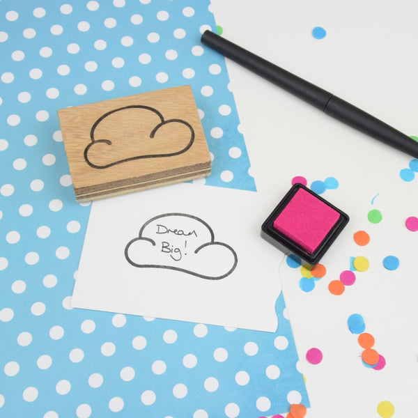 Cloud Rubber Planner Stamp