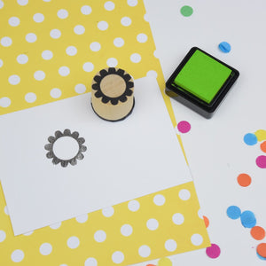 Flower Mini Rubber Stamp